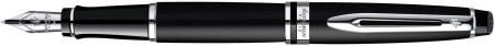 Waterman Expert Fountain Pen - Matte Black Chrome Trim
