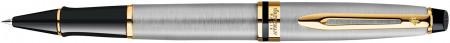 Waterman Expert Rollerball Pen - Stainless Steel Gold Trim