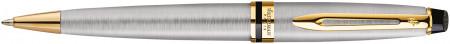 Waterman Expert Ballpoint Pen - Stainless Steel Gold Trim
