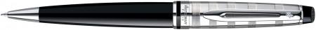 Waterman Expert Ballpoint Pen - Deluxe Black Chrome Trim