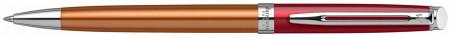 Waterman Hemisphere Ballpoint Pen - Promenade Vermillon Chrome Trim