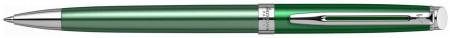 Waterman Hemisphere Ballpoint Pen - Chateau Vert Chrome Trim