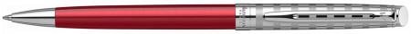 Waterman Hemisphere Ballpoint Pen - Red Club Chrome Trim