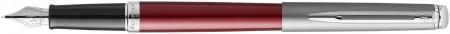 Waterman Hemisphere Essentials Fountain Pen - Matte Red & Sandblasted Steel