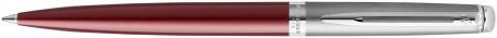 Waterman Hemisphere Essentials Ballpoint Pen - Matte Red & Sandblasted Steel