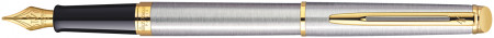 Waterman Hemisphere Fountain Pen - Stainless Steel Gold Trim