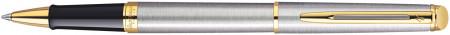 Waterman Hemisphere Rollerball Pen - Stainless Steel Gold Trim