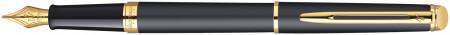 Waterman Hemisphere Fountain Pen - Matte Black Gold Trim