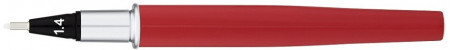 Yookers Yooth 751 Refillable Fineliner Pen - Imperial Red Chrome Trim