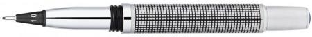 Yookers Metis 999 Refillable Fineliner Pen - Black Grid Satin Chrome
