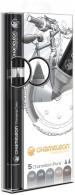 Chameleon Blendable Marker Pens - Grey Tones (Pack of 5)