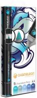 Chameleon Blendable Marker Pens - Blue Tones (Pack of 5)