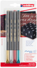 Edding 1200 Fibre Tip Pens - Assorted Metallic Colours (Blister of 4)