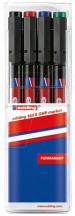 Edding 140 Permanent Pens - Assorted Colours (Wallet of 4)
