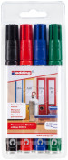 Edding 2000 Permanent Markers - Assorted Colours (Wallet of 4)