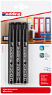 Edding 2000 Permanent Markers - Black (Blister of 3)