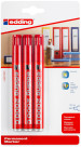 Edding 2000 Permanent Markers - Red (Blister of 4)