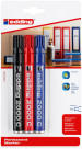Edding 2000 Permanent Markers - Assorted Colours (Blister of 3)