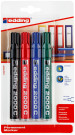 Edding 2000 Permanent Markers - Assorted Colours (Blister of 4)