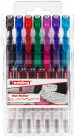 Edding 2185 Gel Rollerball Pens - Assorted Colours (Wallet of 7)