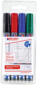 Edding 250 Whiteboard Markers - Assorted Colours (Wallet of 4)
