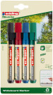 Edding 28 EcoLine Whiteboard Markers - Assorted Colours (Blister of 4)