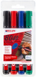 Edding 330 Permanent Markers - Assorted Colours (Wallet of 4)