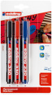 Edding 330 Permanent Markers - Assorted Colours (Blister of 3)