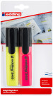 Edding 345 Highlighters - Assorted Colours (Blister of 2)