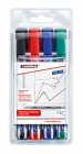 Edding 360 Whiteboard Markers - Assorted Colours (Wallet of 4)