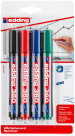 Edding 360 Whiteboard Markers - Assorted Colours (Blister of 4)