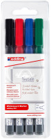 Edding 361 Whiteboard Markers - Assorted Colours (Wallet of 4)