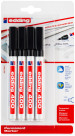 Edding 400 Permanent Markers - Black (Blister of 4)
