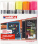 Edding 4090 Chalk Markers - Assorted Neon Colours (Wallet of 5)