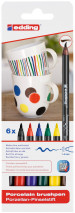 Edding 4200 Porcelain Brush Pens - Assorted Family Colours (Blister of 6)