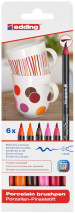 Edding 4200 Porcelain Brush Pens - Assorted Warm Colours (Blister of 6)