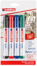 Edding 4500 Textile Markers - Assorted Basic Colours (Blister of 4)