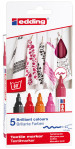 Edding 4500 Textile Markers - Assorted Warm Colours (Pack of 5)