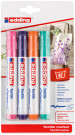 Edding 4500 Textile Markers - Assorted Fun Colours (Blister of 4)