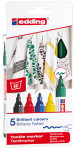 Edding 4500 Textile Markers - Assorted Colours (Pack of 5)