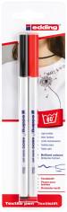 Edding 4600 Textile Pens - Black & Red (Blister of 2)