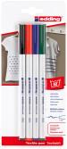 Edding 4600 Textile Pens - Assorted Basic Colours (Blister of 4)
