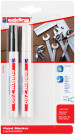 Edding 750 Gloss Paint Markers - White & Silver (Blister of 2)