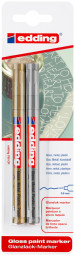 Edding 780 Gloss Paint Markers - Gold & Silver (Blister of 2)