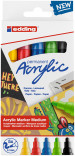 Edding 5100 Acrylic Paint Markers - Bullet Tip - Medium - Basic Colours (Pack of 5)