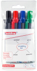 Edding Retract 12 Whiteboard Markers - Assorted Office Colours (Wallet of 4)