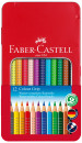 Faber-Castell Colour Grip Pencils - Assorted Colours (Tin of 12)