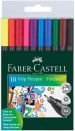 Faber-Castell Grip Finepen - Assorted Colours (Wallet of 10)