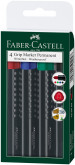 Faber-Castell Permanent Grip Marker - Bullet Tip - Assorted Colours (Wallet of 4)