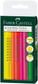 Faber-Castell Grip Textliner Highlighter - Assorted Colours (Wallet of 4)